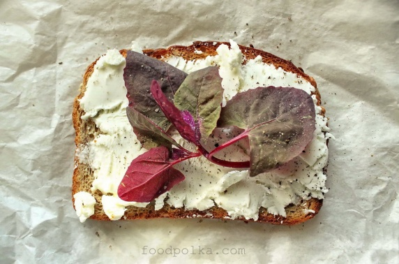 Red Spinach with Goat Cheese