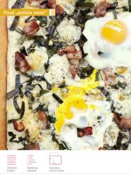 SMAQ egg leek pizza