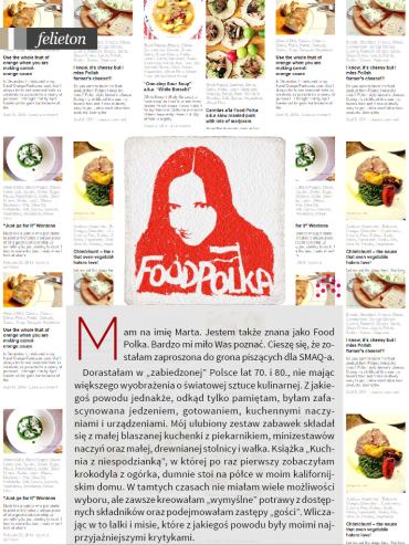 SMAQ food polka column