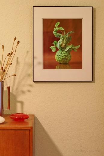 kafir lime print interior design food polka