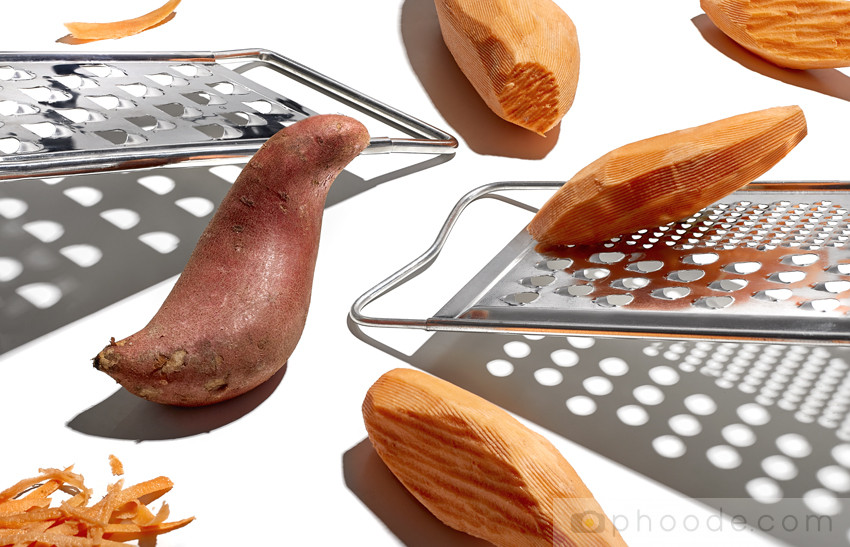 phoode, still life, sweet potatoes, graters