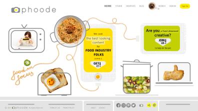 Phoode.com Online Food Photography Platform Home Page Design
