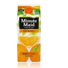 Minute Maid Orange Juice On-White